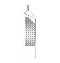 Isolated city tower vector