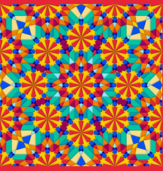 Kaleidoscope multicolor geometric seamless pattern vector