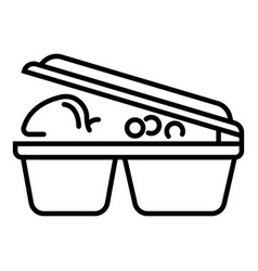 lunch plastic box icon outline style vector image