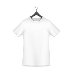 male t-shirt template on the hanger vector image