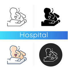 maternity ward icon vector image