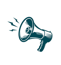 Megaphone loudspeaker symbol advertising vector