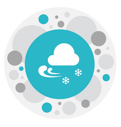 of climate symbol on chill vector image