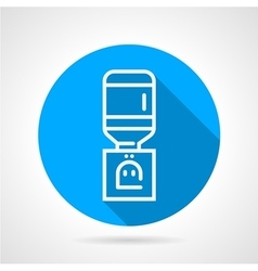 Office water dispenser blue round icon vector