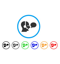 operator message balloon rounded icon vector image vector image