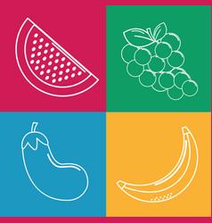 Organic fruits backgroud icon vector