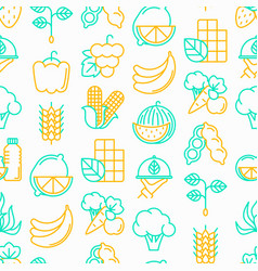 Organic products seamless pattern vector