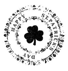 patrick grunge stamp v4 vector image