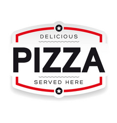 pizza label vintage sign vector image