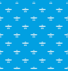 plane pattern seamless blue vector image