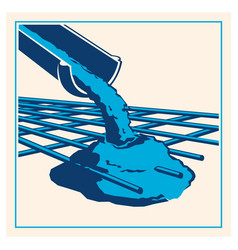 pouring concrete icon vector image