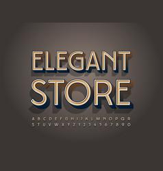 premium logo elegant store old fashioned alphabet vector image
