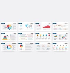 presentation mockup modern business slide vector image