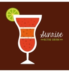 retro drinks vector image