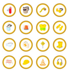 Safety icon circle vector