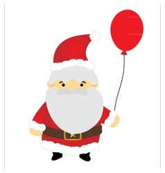 Santa claus holding balloon vector