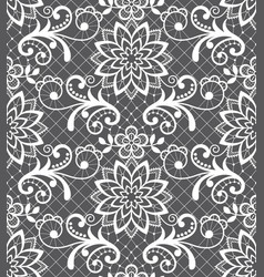 Seamless pattern - lace design with flowers vector
