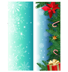 set of christmas banners with fir branches vector image