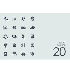Set of finance icons vector image