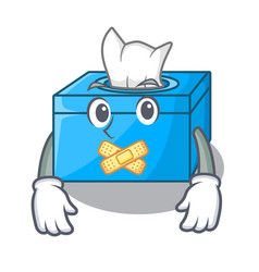 Silent tissue box isolated on the mascot vector