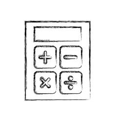 Sketch draw calculator cartoon vector