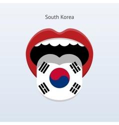 South Korea language Abstract human tongue vector image