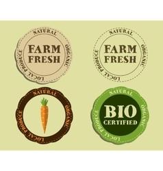 stylish farm fresh logo and badge templates vector image
