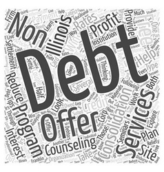 Tell me about consolidation debt in illinois Word vector