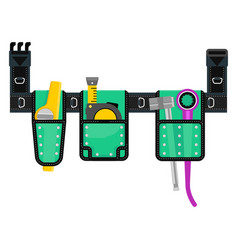Tools belt green vector
