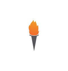 torch logo vector image