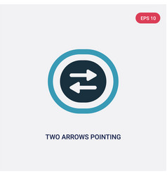 Two color two arrows pointing right and left icon vector