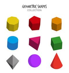 Variety geometric shapes set vector