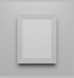 Vertical picture frame realistic mockup vector