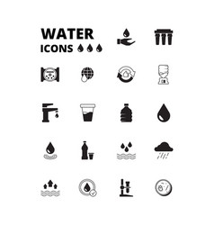 water drops icon refreshing liquids recycling vector image