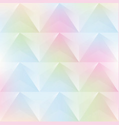 Watercolor triangle seamless pattern vector