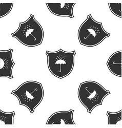 Waterproof icon seamless pattern shield umbrella vector