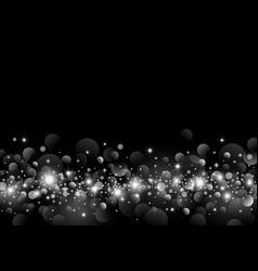 White light bokeh on black background design vector