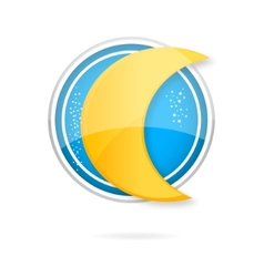 yellow moon symbol vector image