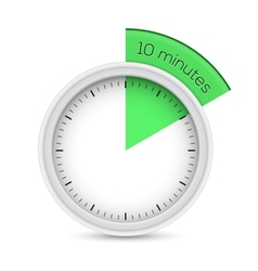 10 Minutes Timer vector image