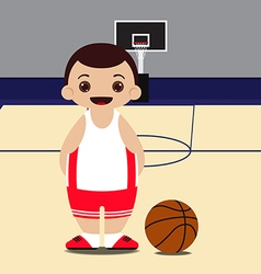 Basketball court basketball player vector image vector image