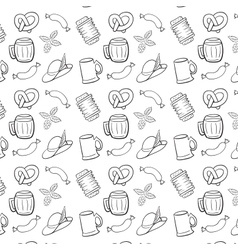 Black and White Octoberfest Seamless Background vector image