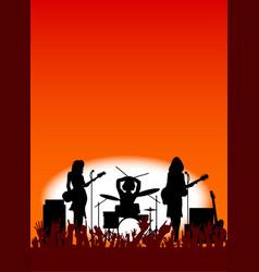 girl band vector image