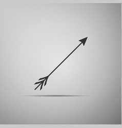 hipster arrow icon isolated on grey background vector image