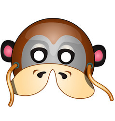 masquerade monkey with strings in cartoon style vector image vector image
