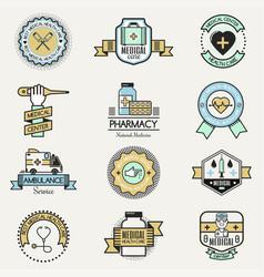 medical family center hospital clinic care logo vector image