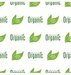 organic vegan healthy food eco restaurant labels vector image vector image