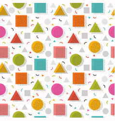 seamless pattern with geometric shapes decorative vector image