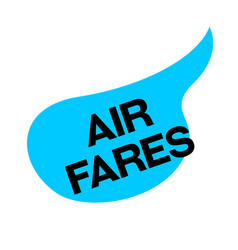 Air fares sticker vector