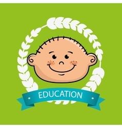 boy student graduation icon vector image vector image