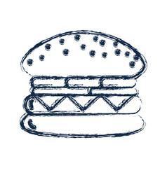 figure tasty and fresh hamburger fast food vector image vector image